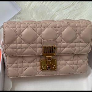Pink Dior Addict Wallet on Chain WOC